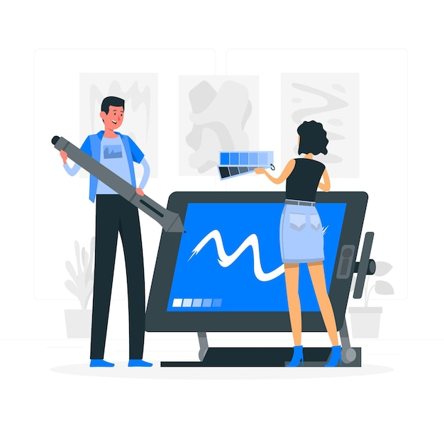Design-team-konzeptillustration Kostenlosen Vektoren