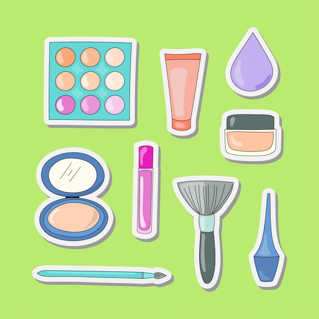 Design von make-up-tools Premium Vektoren