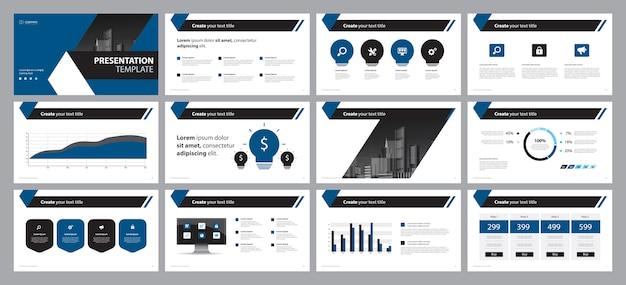 Design-vorlage für das präsentationsfolienlayout für unternehmen Premium Vektoren
