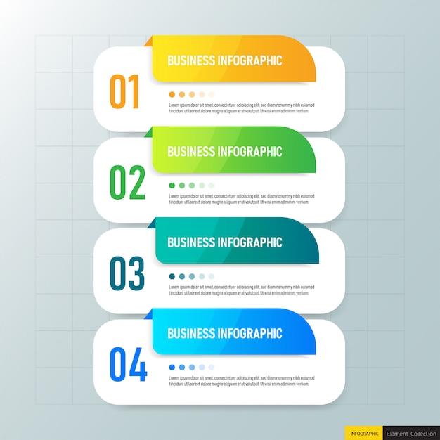 Design-vorlage für geschäftsinfografiken. Premium Vektoren