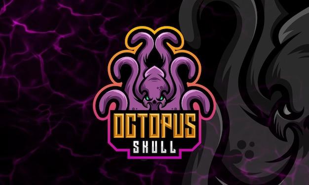 Design-vorlage für octopus, squid modern mascot und sport logo Premium Vektoren