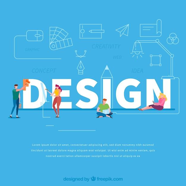Design-wort-konzept Kostenlosen Vektoren