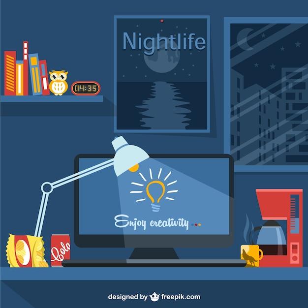 Designer-lifestyle-vektor-illustration Kostenlosen Vektoren