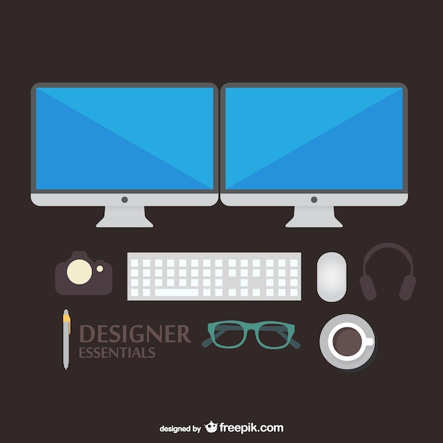 Designer-tools vektor-illustration Kostenlosen Vektoren