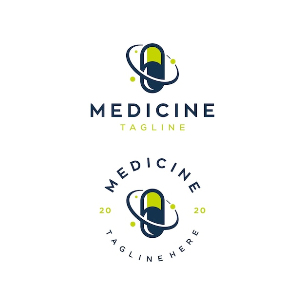 Designvorlage des medizinillustrationslogos Premium Vektoren