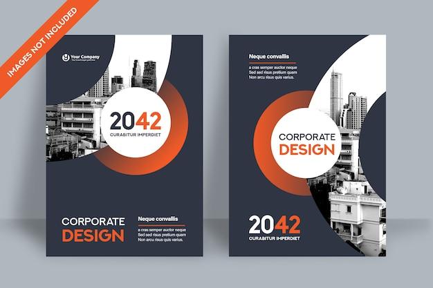 Designvorlage für corporate book cover in a4. Premium Vektoren