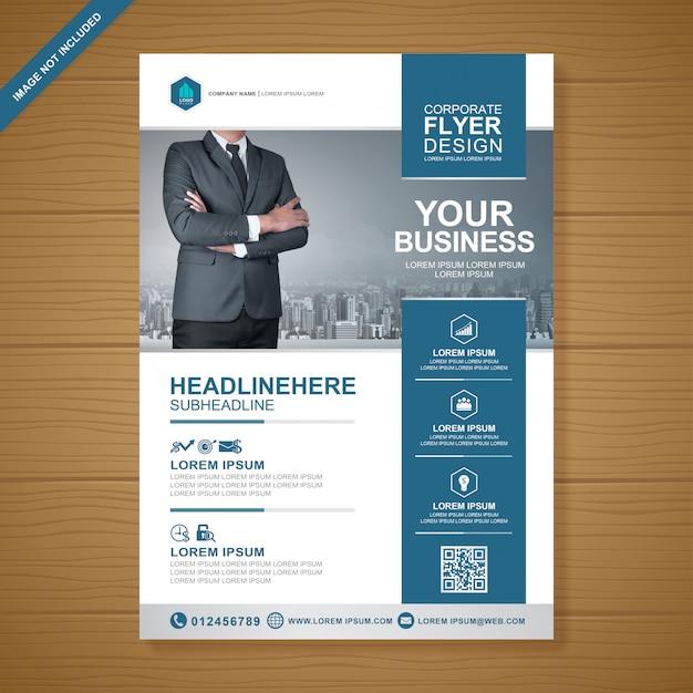 Designvorlage für flyer für business-cover a4 Premium Vektoren
