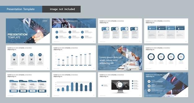 Designvorlage für geschäftspräsentationen Premium Vektoren