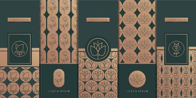 Designvorlage für luxusgoldverpackungen Premium Vektoren