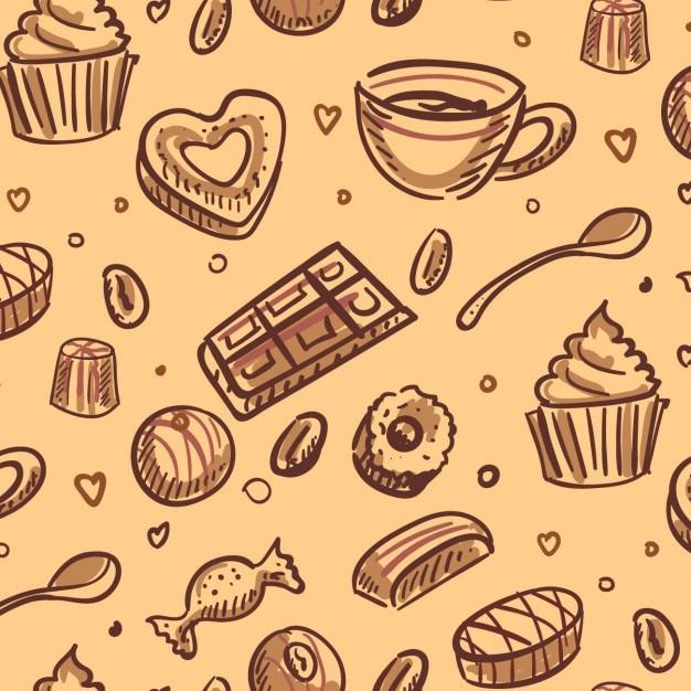 Desserts hintergrund Kostenlosen Vektoren