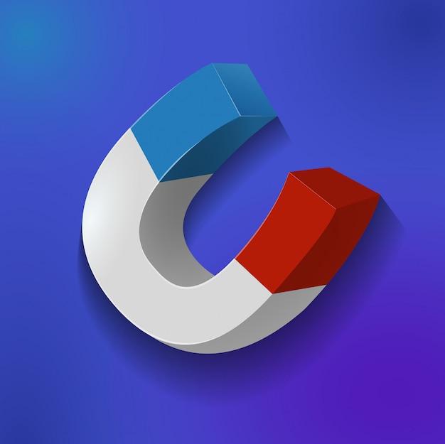 Detail magnet detail spiel element symbol Premium Vektoren
