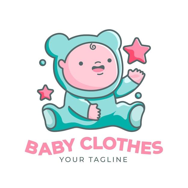 Detaillierte baby-logo-vorlage Kostenlosen Vektoren