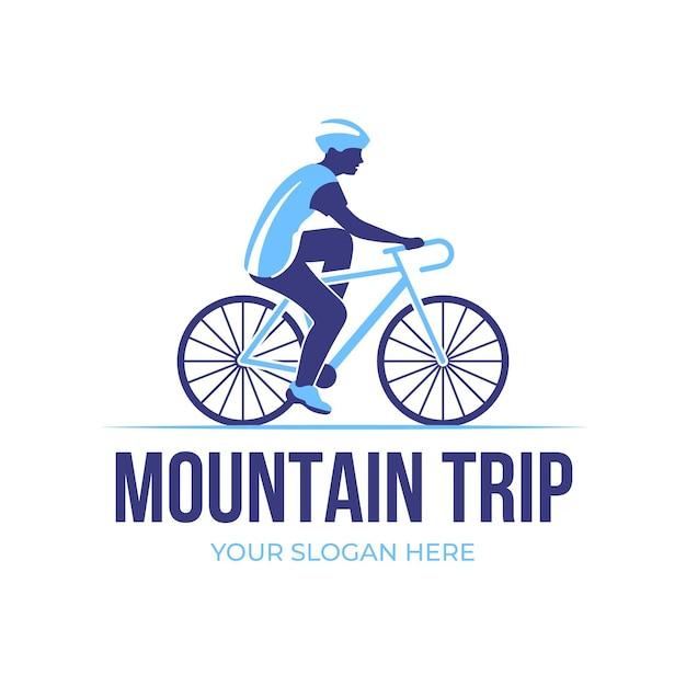 Detaillierte fahrrad-logo-vorlage Kostenlosen Vektoren