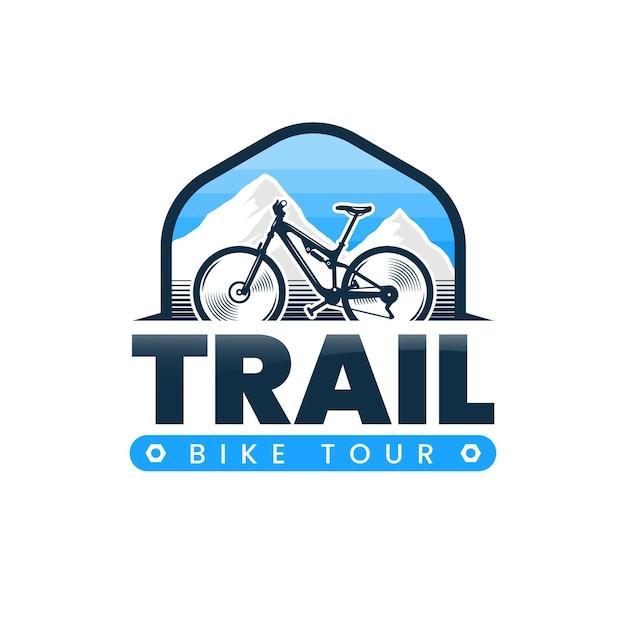 Detaillierte fahrrad-logo-vorlage Premium Vektoren