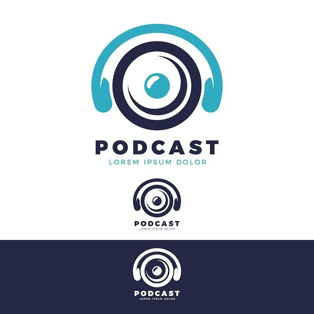 Detaillierte podcast-logo-vorlage Kostenlosen Vektoren