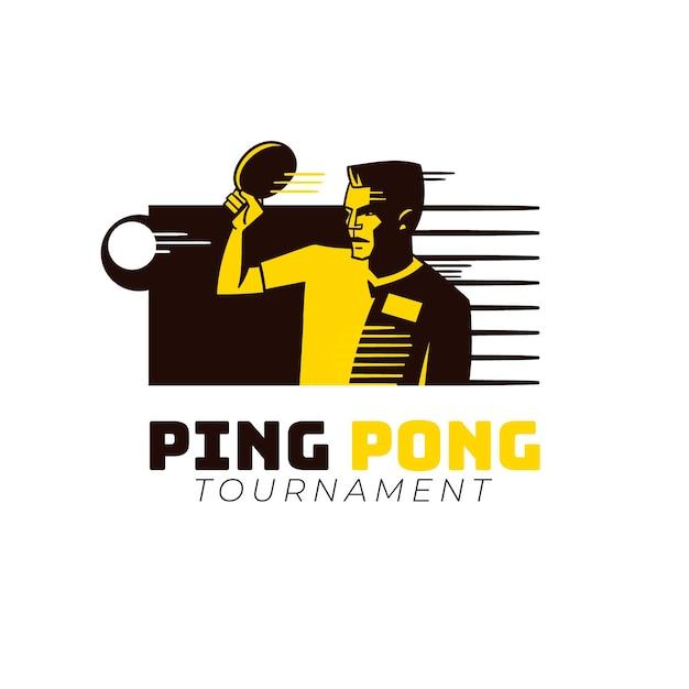Detaillierte tischtennis-logo-vorlage Kostenlosen Vektoren