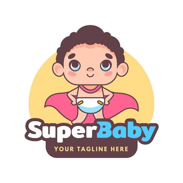 Detailliertes baby-logo Kostenlosen Vektoren