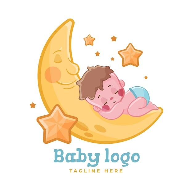 Detailliertes baby-logo Premium Vektoren
