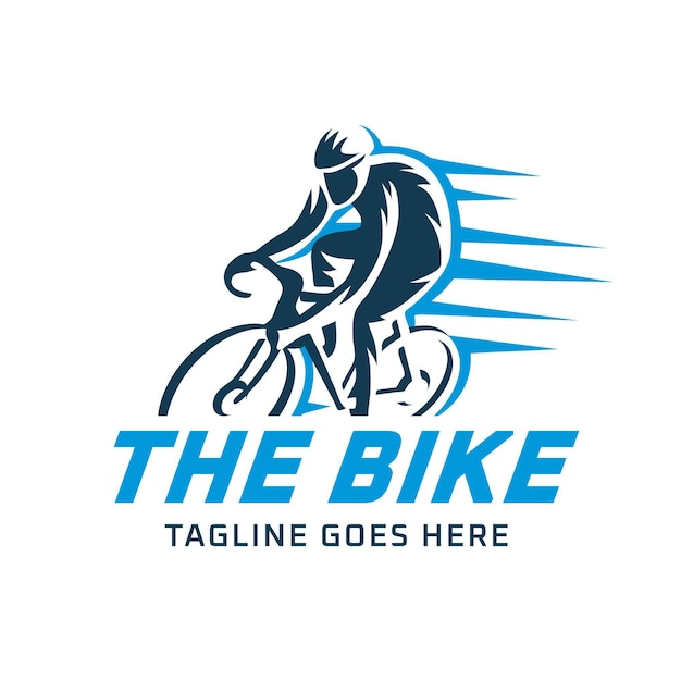 Detailliertes design der fahrradlogo-vorlage Kostenlosen Vektoren
