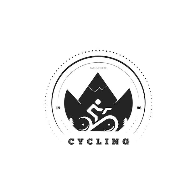 Detailliertes fahrradlogo-fahrradkonzept Kostenlosen Vektoren