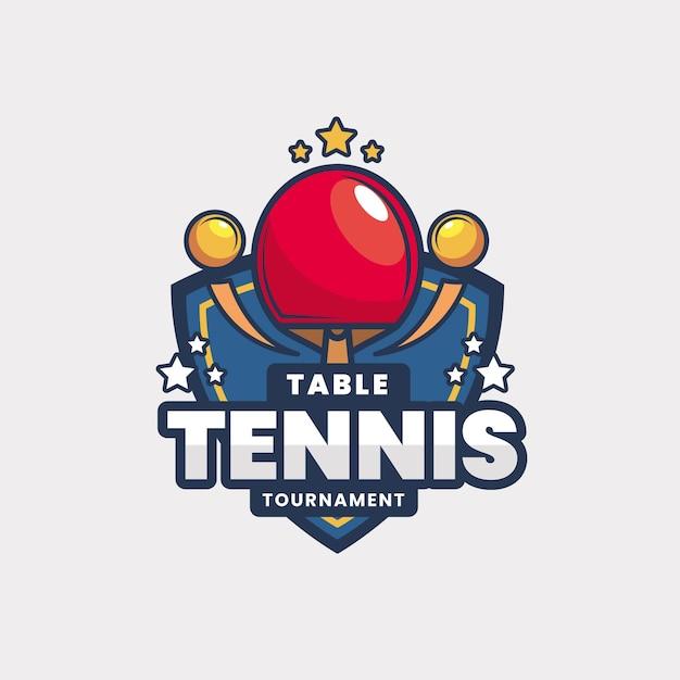 Detailliertes logo für tischtennisturniere Kostenlosen Vektoren