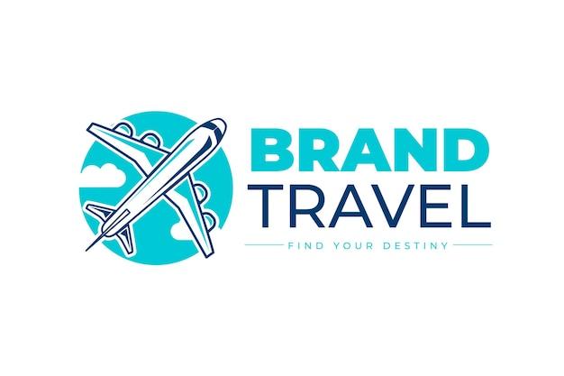 Detailliertes reiselogo-design Kostenlosen Vektoren