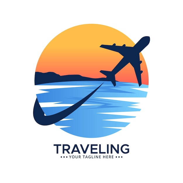 Detailliertes reiselogo Kostenlosen Vektoren