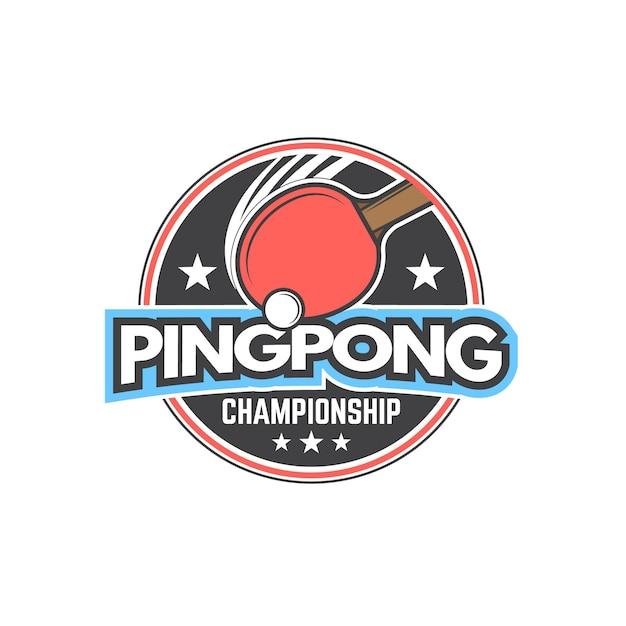 Detailliertes tischtennis-logo-design Kostenlosen Vektoren