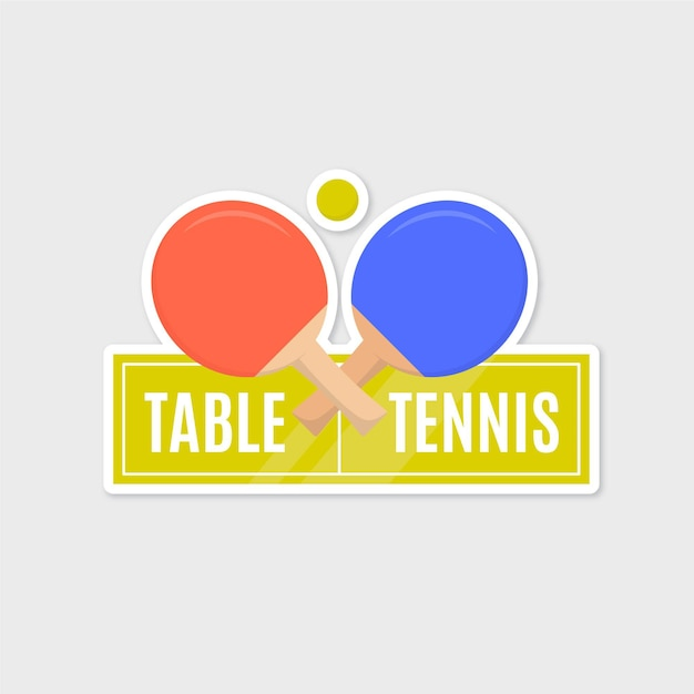 Detailliertes tischtennis-logo Kostenlosen Vektoren