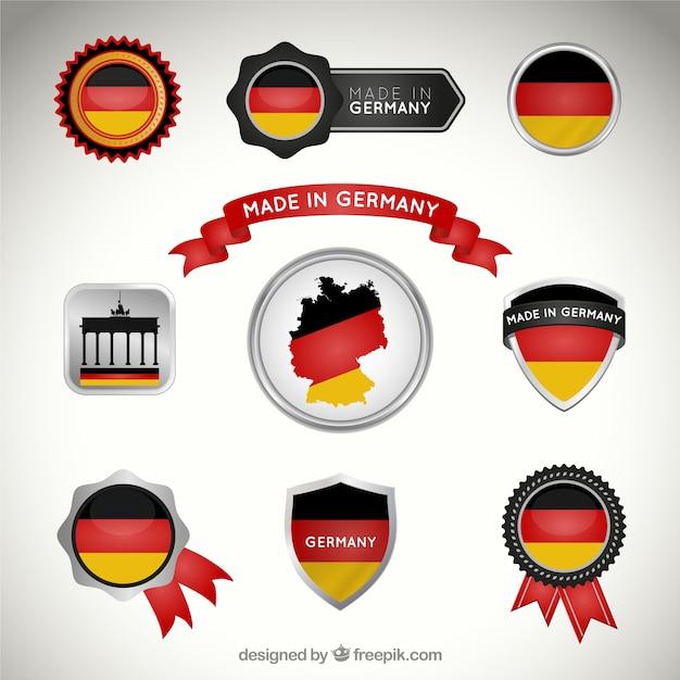 Deutsch abzeichen sammlung Kostenlosen Vektoren