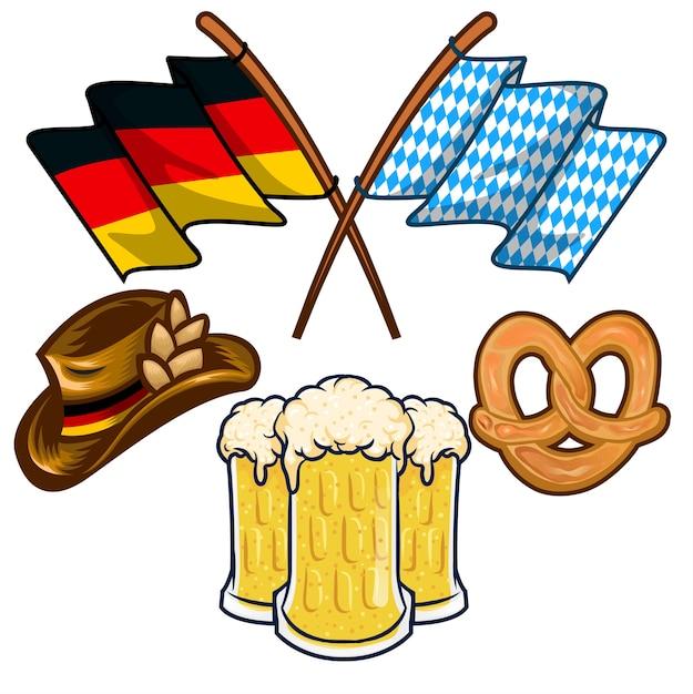 Deutsche Tradition Bayerisches Fest Flagge Hut Bier Download Der