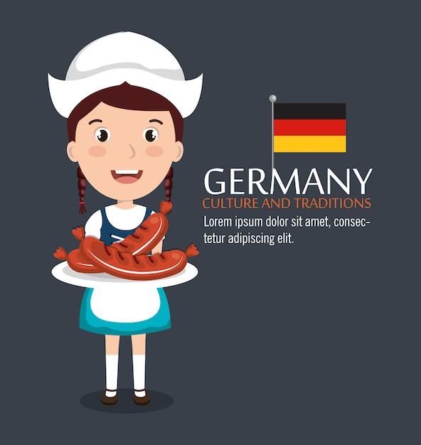 Deutsches kulturdesign Kostenlosen Vektoren
