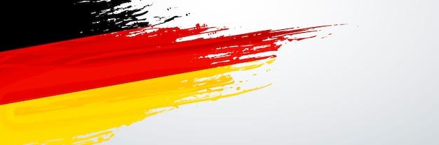 Deutschland banner flagge Premium Vektoren