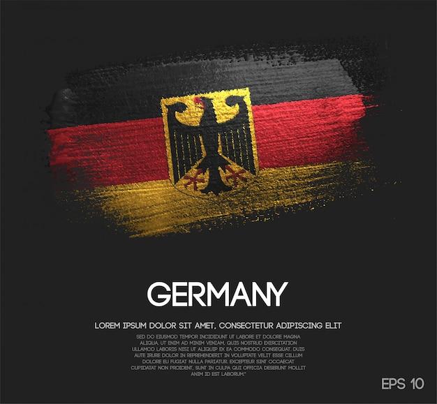 Deutschland flagge aus glitzer sparkle pinsel farbe Premium Vektoren