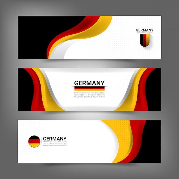 Deutschland flagge konzept banner Premium Vektoren