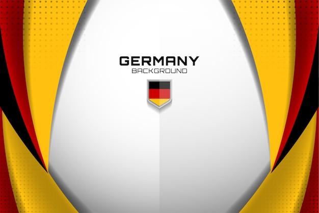 Deutschland flagge konzept hintergrund Premium Vektoren