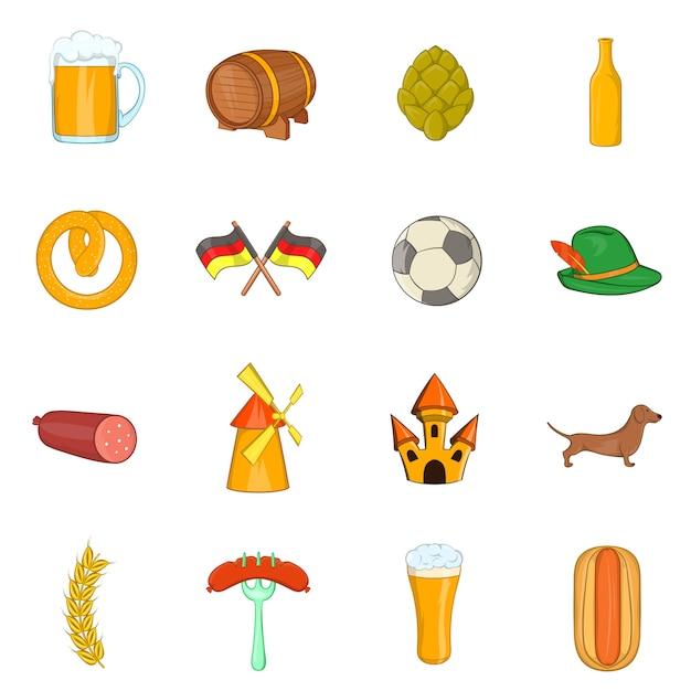 Deutschland icons set Premium Vektoren