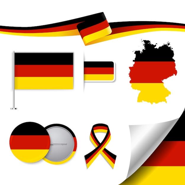 Deutschland repräsentative elemente sammlung Kostenlosen Vektoren