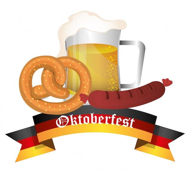 Deutschlandkulturen und oktoberfestdesign. Premium Vektoren