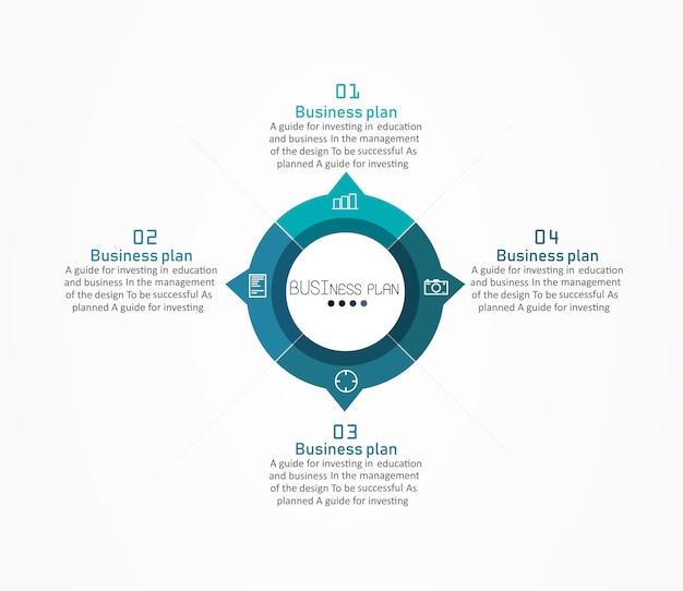 Diagramm in design oder ausbildung verwendet es gibt vier schritte oder ebenen. Premium Vektoren