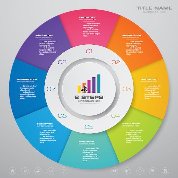Diagramm-infografiken-elemente. Premium Vektoren