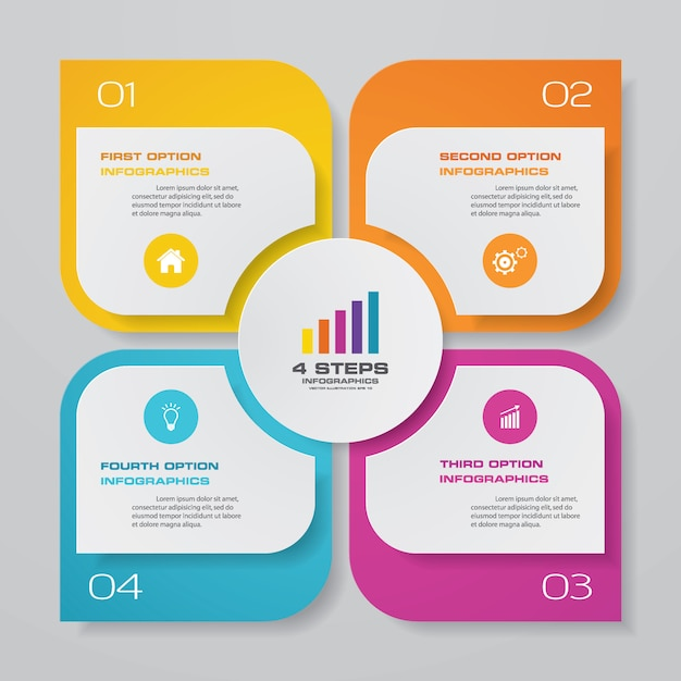 Diagramm infographik element Premium Vektoren
