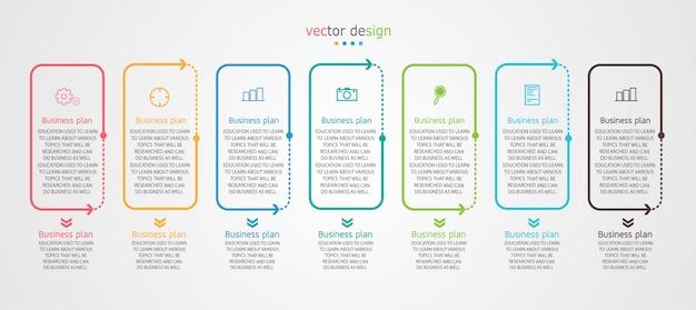 Diagramm unternehmen für die präsentation von bildung Premium Vektoren