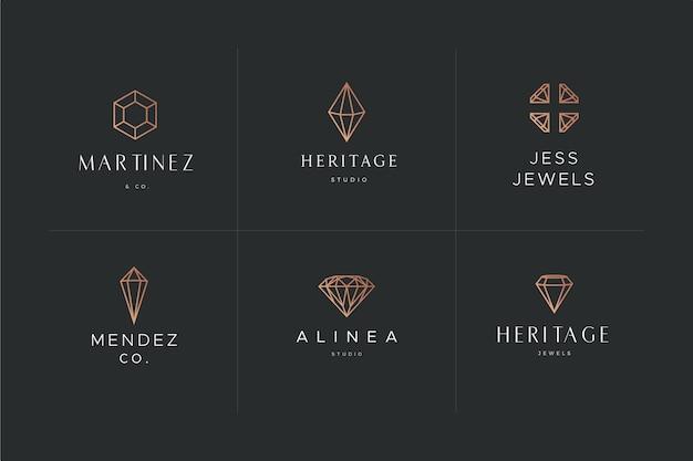 Diamant logo vorlage thema Premium Vektoren