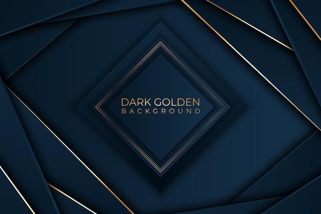 Diamantform mit goldenem detailhintergrund Kostenlosen Vektoren
