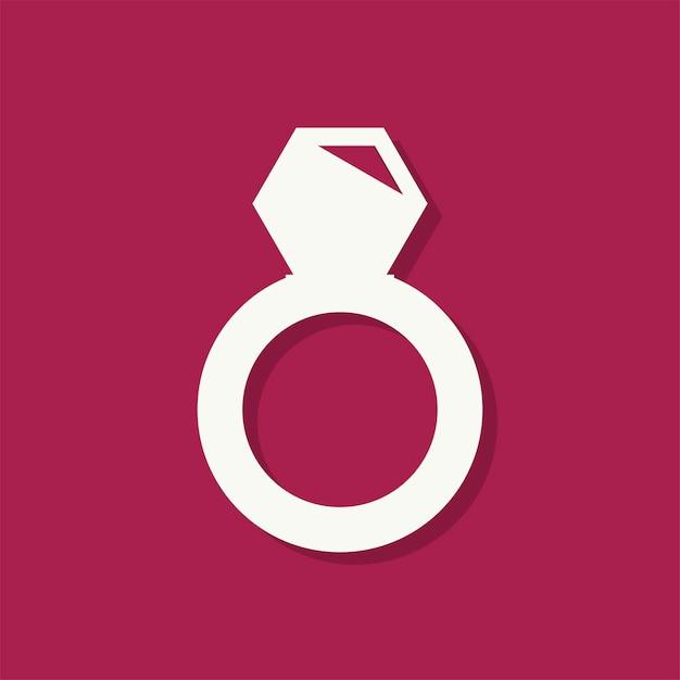 Diamantring valentinstag-symbol Kostenlosen Vektoren