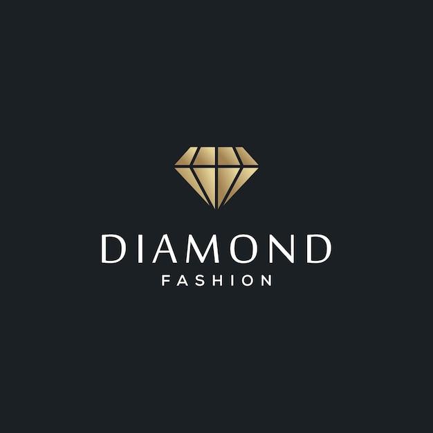 Diamantschmuck logo design vorlage Premium Vektoren