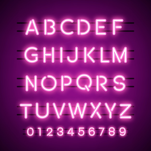 Die alphabet- und zahlensystemvektoren Kostenlosen Vektoren