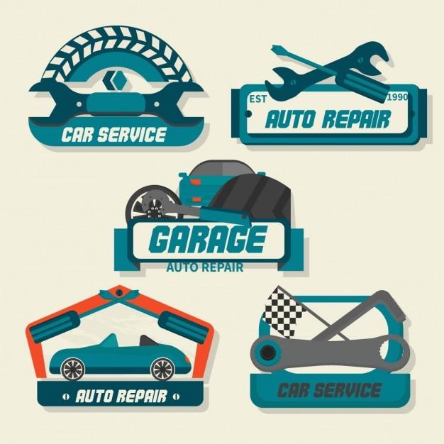 Die Autoservice-logo Kostenlose Vektoren