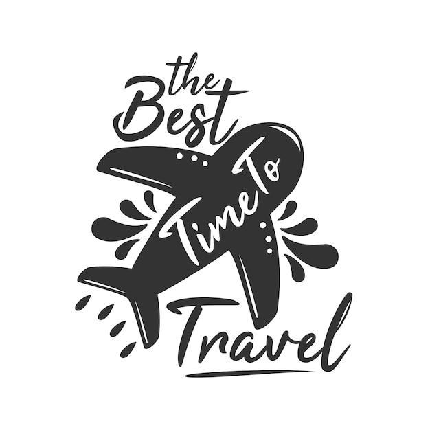 Die beste reisezeit Premium Vektoren